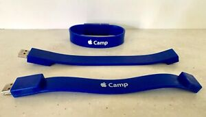 NEW  Apple Camp USB Bracelet: Blue, SMALL (500 MB)