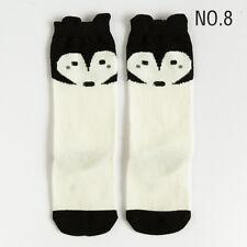 Kids Baby Cotton Cartoon Socks Knee High Long Toddler Girl Clothing 27 Styles