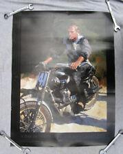 Steve McQueen Pre Unit Triumph Desert Sled Racing Motorcycle Poster Motocross