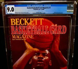 CGC 9.0 1990 Beckett MICHAEL JORDAN Basketball Card Magazine #1 Chicago Bulls