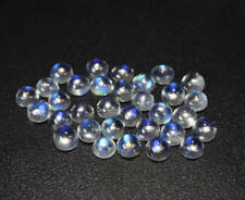 Natural Rainbow Moonstone 4mm Round Cabochon 5 Pieces Loose Gemstone