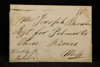 Massachusetts: Dudley 1840 Stampless Cover, Ms, Worcester Co