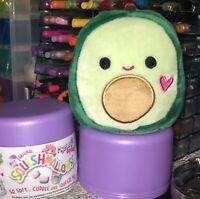 "NWT Squishmallows Mystery Capsule Valentines 4"" AUSTIN Green Avocado Plush"
