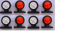 8x LED SIDE MARKER LAMPs LIGHT WHITE RED 24V for TRAILER TRUCK LORRY BUS CHASSIS