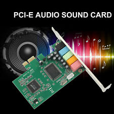 PCI Express PCI-E 5.1 Ch 6 Channel Audio Digital Sound Card Adapter for Desktop