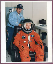 1996 NASA Shuttle Commander Brian Duffy Dons Space Suit STS-72 Original Photo