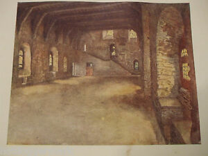 ANTIQUE PRINT DATED 1908 COLOUR BELGIUM PAINTED BY FORESTIER GHENT BANQUET HALL