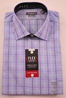 mens Van Heusen dress shirt size 15.5 32-33 blue long sleeve button front rt $55