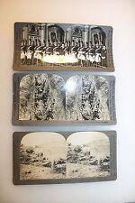 Original Lot of Three WW1 Keystone View Company Photo Cards War Scenes
