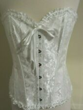 EVABABY White Floral Sexy Corset Size 3XL