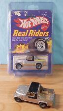 Vintage Hot Wheels Real Riders 1982 _  Jeep Scrambler _ Grey Hubs _ 1/64 MOC