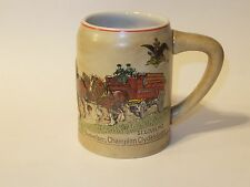 AB Anheuser Busch CLYDESDALES CS19 1980 Christmas Holiday Stein