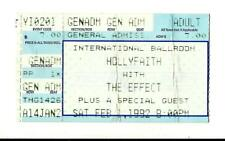 1992 HOLLYFAITH Used Ticket Full Concert: With The Effect International Ballroom