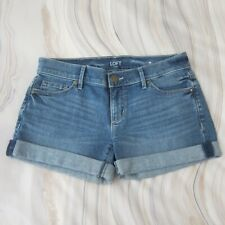 NEW!! ANN TAYLOR LOFT Light Denim Roll Cuffed Shorts - 00