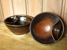 HANDY STUDIO ART POTTERY HANDMADE DIP BOWLS DISHES MARKED STEPHEN LLEWELLYN