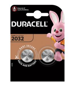 DURACELL CR2032 3V 3 VOLT BLOCK BATTERY COIN CELL DL 2032 LITHIUM POWER (2 PACK)