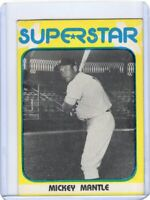 1982 SUPERSTAR BASEBALL CARD # 31  - HOF MICKEY MANTLE-  NEW YORK YANKEES