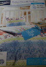 BEDDING SET Reversible Bedlinen Single Cover 135 x 200 Cotton 100% flowers