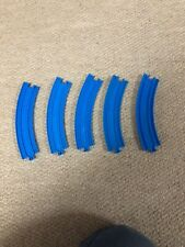 5 X Curved Blue Track for Thomas Tomy & Tomica Train / Road Sets