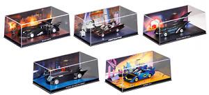 Lot de 5 véhicules de Batman 1/43 Collection Eaglemoss DC Comics Batmobile N1B
