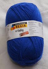 100 Gr.Regia Uni Electric Blue Farbe 06615 Socken- Strumpfwolle