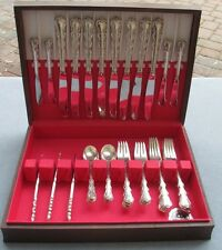 39 Pcs Set for 8, International Sterling Silver Angelique Flatware W Box & Serve