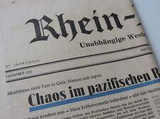 ALTE RHEIN ZEITUNG 27 MAI 1960 ... CHAOS IM PAZIFISCHEN RAUM ...