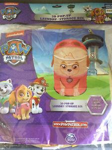 Nickelodeon 3D Paw Patrol Skye Girls Pop-Up Laundry/Storage Bin