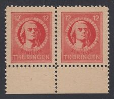 GERMANY, Soviet Zone, 1945. Thuringen, Mi 97AX pair, VI, Mint **