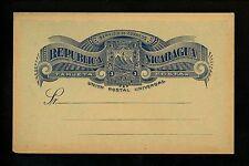 Postal Stationery Nicaragua H&G #21 Postal Card Issued 1893 Mint