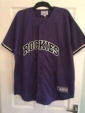 Colorado Rockies Men's Xl Purple Baseball Jersey