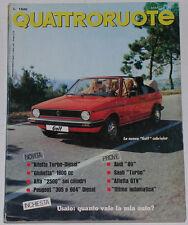 QUATTRORUOTE 3/1979 ALFA ROMEO ALFETTA GTV 2000 L – SAAB 900 TURBO – AUDI 80 1.6