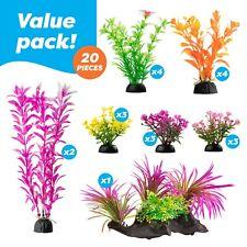 20 Pack Color Realistic Decorative Aquarium Fish Tank Ornament Plastic Plants