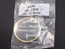 Vintage Mido Yellow Tension Ring 33mm Watch Crystal Waterprf Permafit R#21 wider