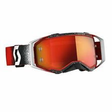 Scott Hustle X MX Goggle Cross//MTB Brille rot//grau//orange Chrom Works