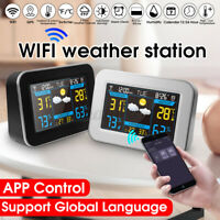 Wireless Weather Station Weather Forecast USB Geometric Design Sunrise Display