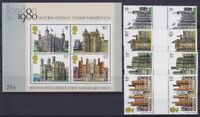 United Kingdom Block 1 And Mi 760 - 763, Exhibition 1980, Mint, MNH