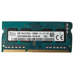 SK Hynix 2GB DDR3 Laptop Memory RAM PC3L-12800S 1600Mhz HMT425S6AFR6A-PB