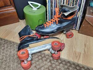 Vintage 70's Leather Roller Skates Mens 11 Sure-Grip Super X8L/X8R
