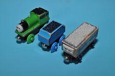 Set of THREE wooden THOMAS trains from 1990s : PERCY, SC RUFFEY, GORDON TENDER