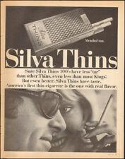 1971 Vintage ad for Silva Thins Cigarettes`Tobacco sunglasses   (122517)