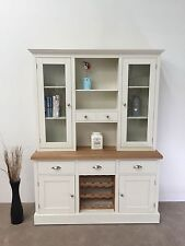 5ft New Solid Pine Welsh Dresser - Wine Rack / Kitchen Unit Oak  Top
