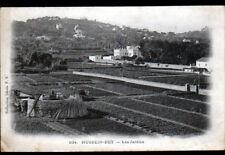 HUSSEIN DEY (ALGERIE) MEULE , JARDINS & VILLAS début 1900