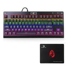 Mechanisch Gaming Tastatur beleuchtet backlight Switches QWERTY Layout Schwarz