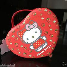 Hello Kitty Corazón Joyero Girls Rojo Joyas almacenamiento Caja de chucherías Caja De Regalo