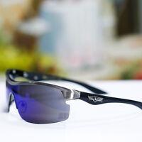 Khan Outdoor Sport Sunglasses Cycling Mirror UV 400 Shades Semi Rimless New Mens