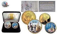 World Trade Center 9/11*10th Anniversary :2-Coin 24K U.S.A Legal Tender Set-NEW