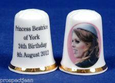 Princess Beatrice of York 24th Birthday 8th August 2012 China Thimble B/91