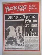 Boxing News 19 Aug 1988 Jeff Fenech Bruno-Tyson Lester Ellis-Tony Laing,