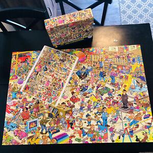 2000 Ceaco Puzzle Jan Van Haasteren Toy Ahoy Crowd Pleasers Complete Poster